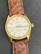 18ct GOLD ROLEX OYSTER PERPETUAL WATCH