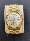 18ct GOLD ROLEX PRESIDENTIAL DAY DATE WATCH