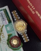 "Rolex Datejust 26' ""Champagne"" - 18ct Yellow Gold & Steel Jubilee Model"