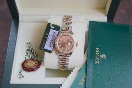 Champagne Rolex Diamond Datejust 18ct Yellow Gold & Steel (£14,050 Valuation)