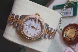 Rolex Datejust 26' - 18ct Yellow Gold & Steel Jubilee Model (White Roman)