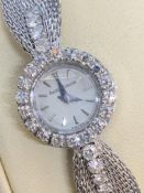 VINTAGE DIAMOND SET 18ct GOLD WATCH - 27 GRAMS
