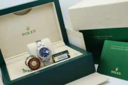 Rolex Lady Datejust - 26mm Stainless Steel model with Navy Dial!