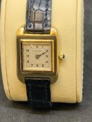 VINTAGE CARTIER 18ct GOLD WATCH - EARLY SANTOS?
