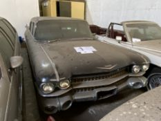 .APPROX 1959 CADILLAC FLEETWOOD FACTORY LIMO IN BLACK WITH KEYS