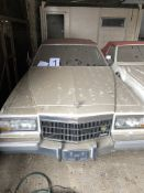 APPROX 1991 CADILLAC BROUGHAM 4 DOOR CONVERTIBLE IN WHITE WITH KEYS