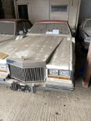 APPROX 1982 CADILLAC SEVILLE 2 DOOR CONVERTIBLE CONVERSION IN WHITE WITH KEYS - UK REG - REG 16 CAD