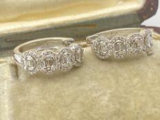 9ct WHITE GOLD 1.00ct DIAMOND EARRINGS