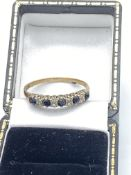 9ct Gold Spinel & Diamond Ring