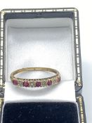 9ct Gold Ruby & Diamond Ring