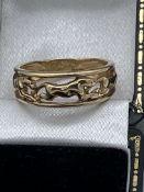 9ct Gold Ring Depicting Jaguar Cat