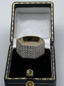 Gents 9ct Gold Stone Set Ring