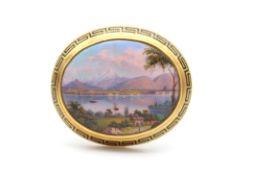 Antike Brosche/Anhänger Schweiz geprüft auf 750er Gold