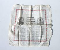 A rare and very fragile tissue paper Souvenir Consecration of Liverpool Cathedral and Royal Visit to