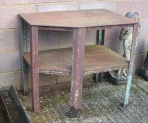 A Steel engineer's bench joined with an under tier, 94cms (37ins) wide.