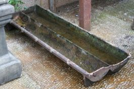 A cast iron pig trough / planter, 92cms (36ins) wide.Condition Reporthole at one end