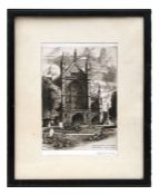 A S Wade - Winchester Cathedral West Front, June 30th 1960 - signed in pencil to the margin,