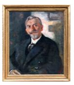Early 20th century British - Head & Shoulder Portrait of Mr Hillcrest - dated 1922, oil on canvas,