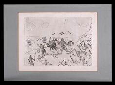 Lin Jammet (1958-2017) - The Battle of Hastings - proof engraving, signed and dated '1967 in