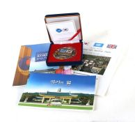 A cased 60th Anniversary Medal of the End of the Korean War together with various leaflets. The
