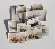 Mid 20th century Sand Yacht or Land Sailing photographs, 70 in total, ranging in size from 6.5cms (