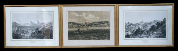 An early 19th century engraving - Ullswater - published by Thos. Agnew & Sons, 30 by 48cms (12 by
