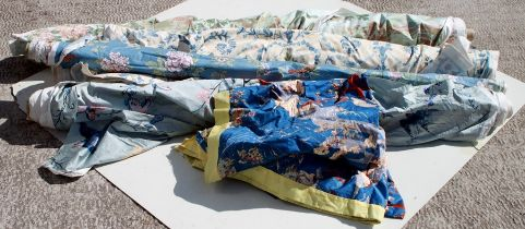 A quantity of part rolls of fabric to include Jonelle Duracolour - Peony Island & Imari,