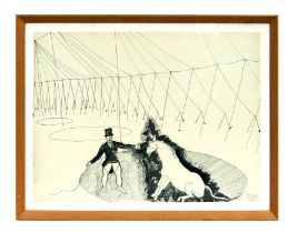 Alexander Calder (1898-1976) - Circus Ringmaster - lithograph, framed & glazed, 48 by 35cms (19 by