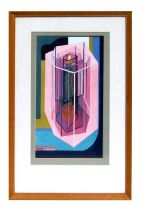 20th century modern British - Guarded Treasure - abstract, gouache, initialled 'MGD' lower left,