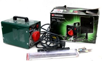 A Parkside Arc Welder PESG 120A1 with mask, boxed (2).