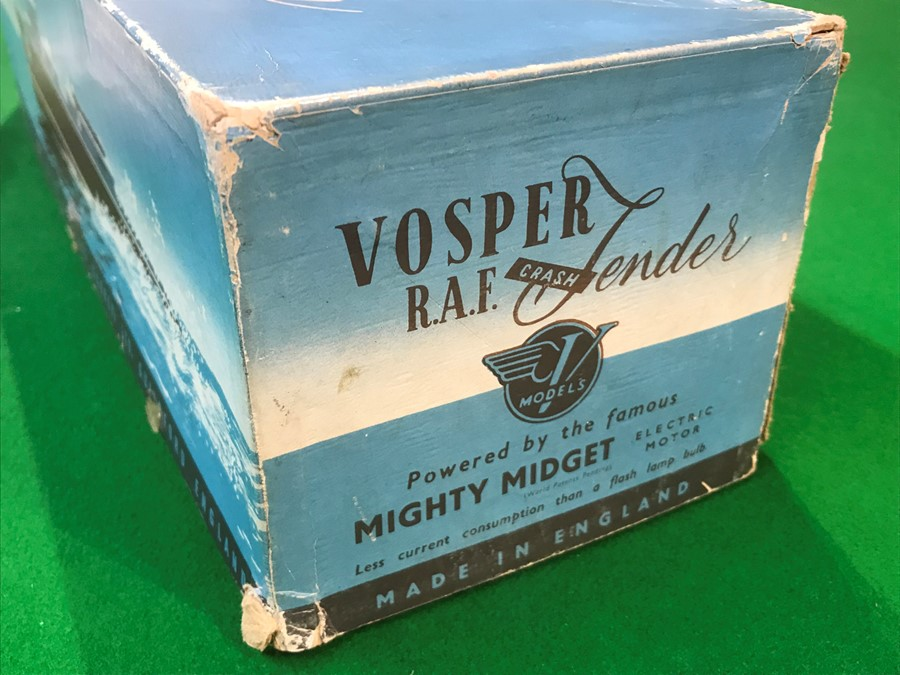 A Vosper Models RAF Crash Tender, powered by the famous Mighty Midget electric motor, in original - Image 7 of 7