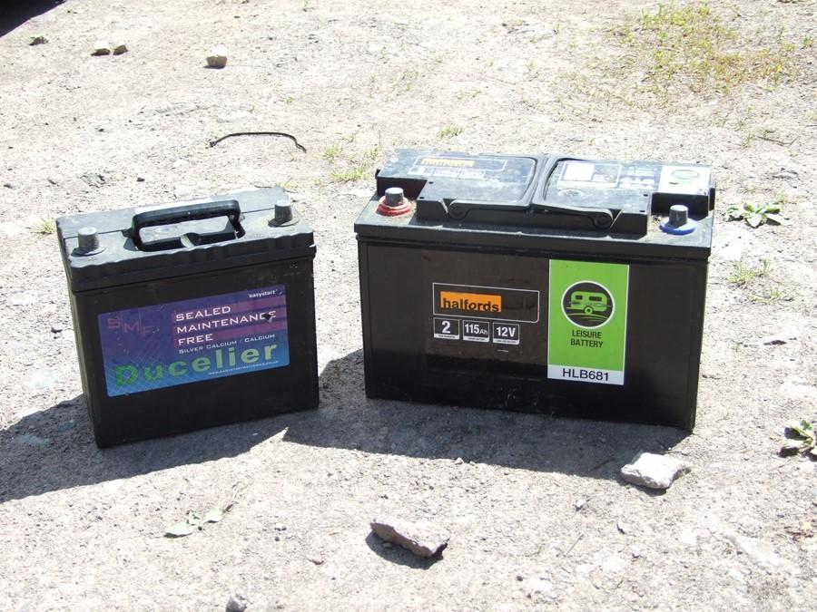 A Halfords HLB681 Leisure Battery; together with a Ducelier Sealed Maintenance Free Easystart