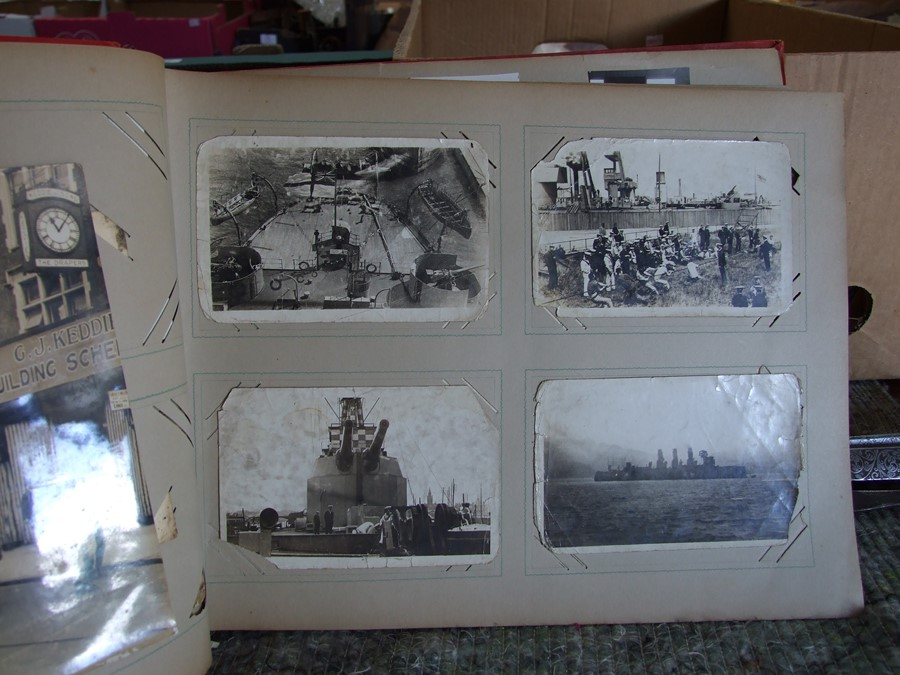 Approximately 200 early to mid 20th century Military postcards and photographs contained in a red - Image 13 of 19