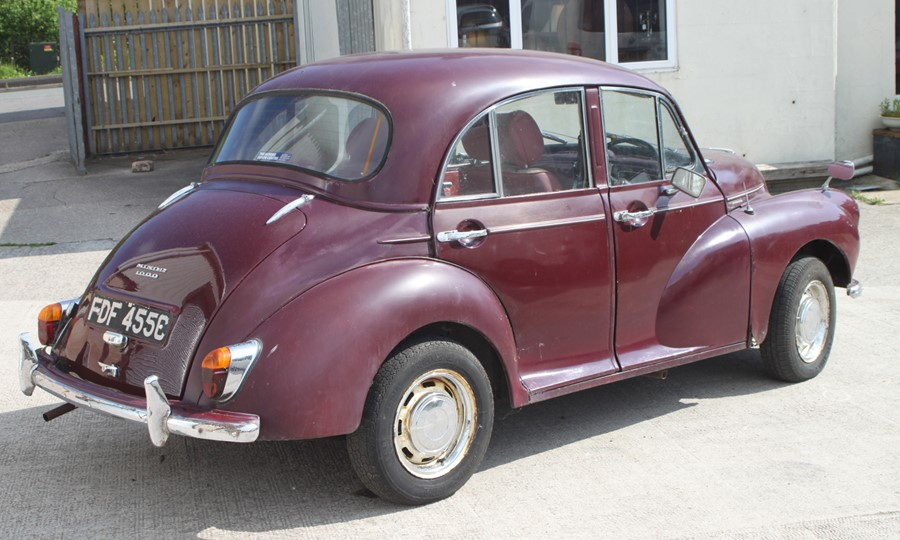 A 1965 Morris Minor 1000 four-door saloon, registration no. FDF 455C, chassis no. M/A55D1121593, - Image 4 of 10
