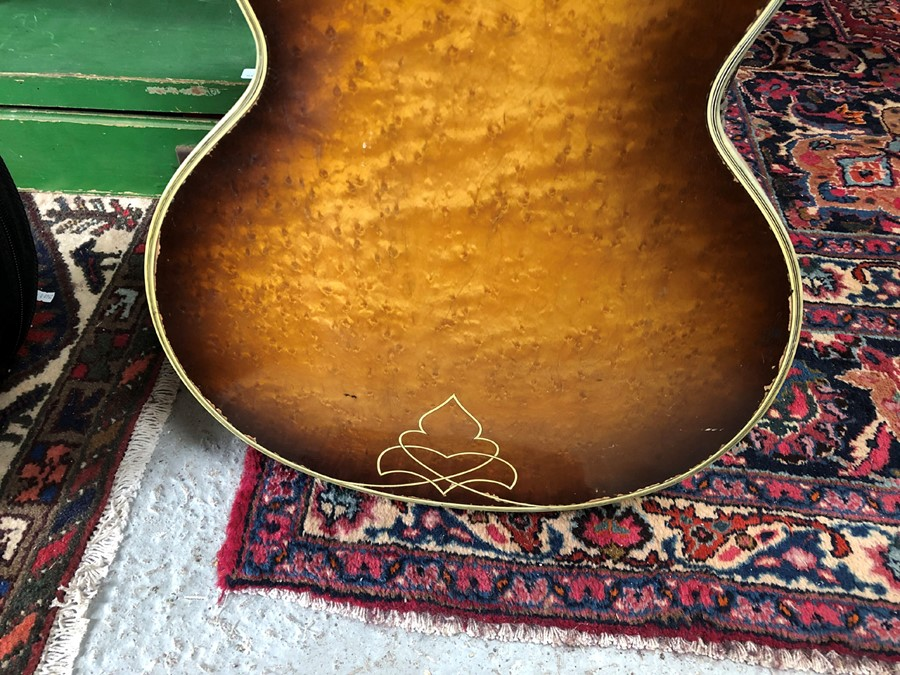 A late 1950's Hofner Committee hollow body F hole jazz guitar for restoration. - Image 2 of 3