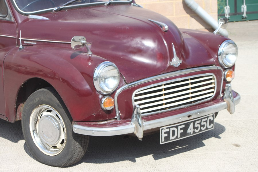 A 1965 Morris Minor 1000 four-door saloon, registration no. FDF 455C, chassis no. M/A55D1121593, - Image 3 of 10