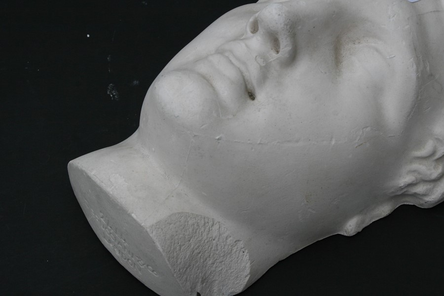 After the antique. A plaster cast mould of Michael Angelo's David, signed 'D Brucciani & Co. London' - Image 2 of 8