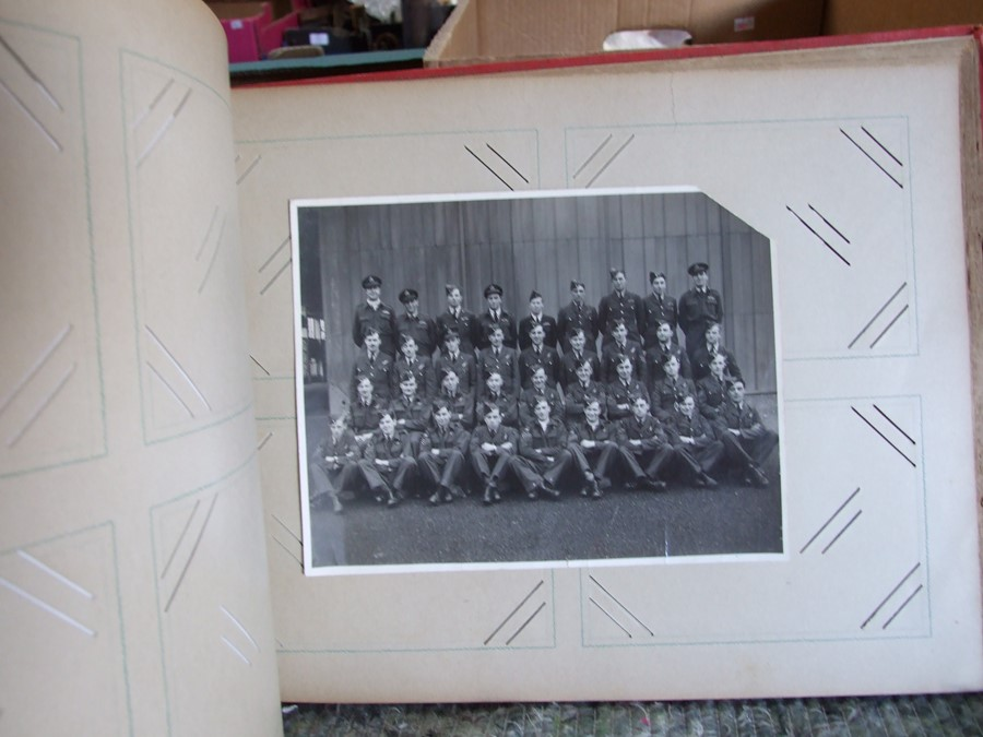 Approximately 200 early to mid 20th century Military postcards and photographs contained in a red - Image 16 of 19
