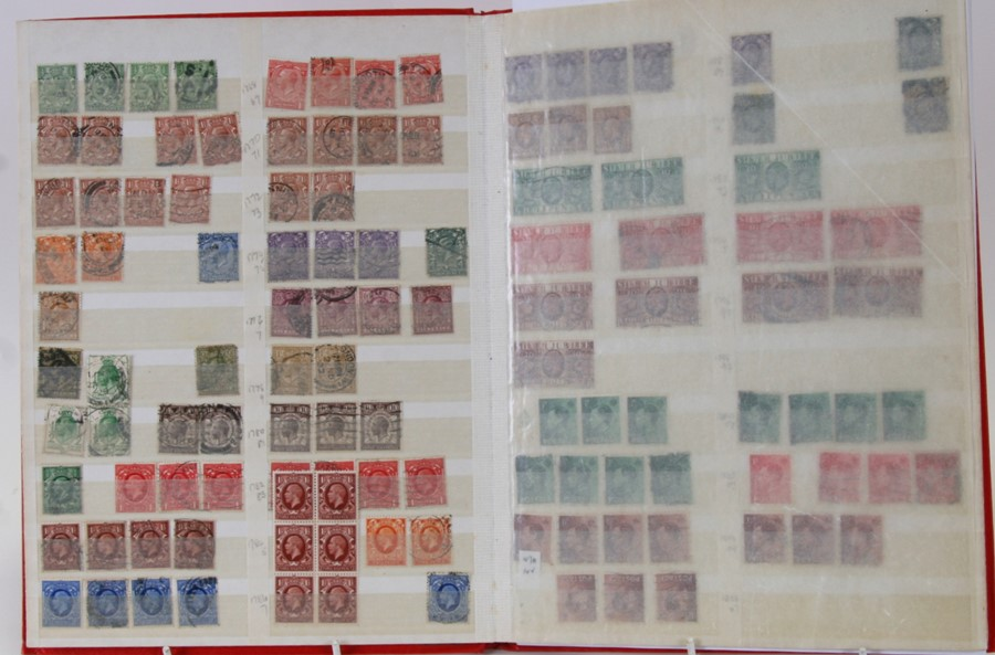 A stock album of Victorian British stamps to include Penny Reds and Half Penny Greens; together with - Image 4 of 4