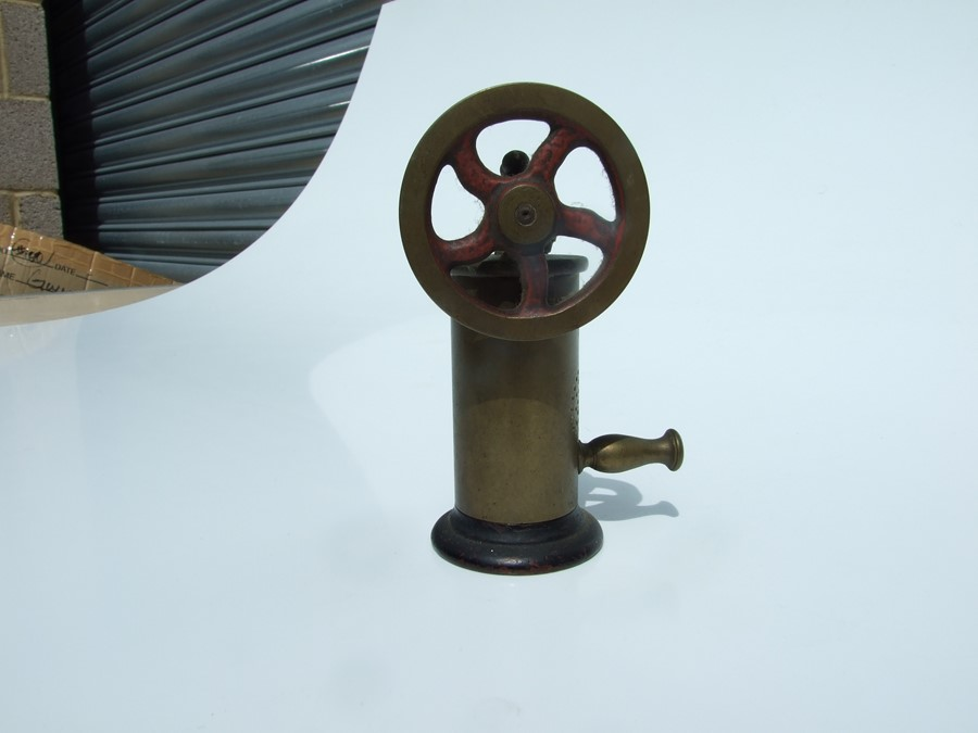An Islamic hanging oil lamp; together with a Morse Code key; an Autolite lamp; a stationary engine - Image 5 of 6