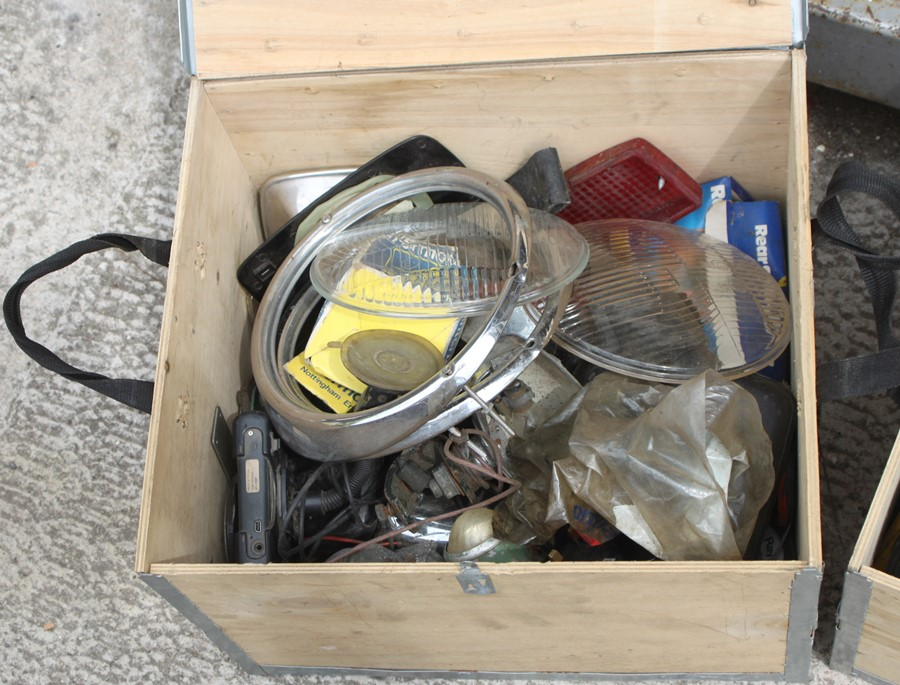 Three boxes containing various spares and consumables (3). - Image 2 of 3
