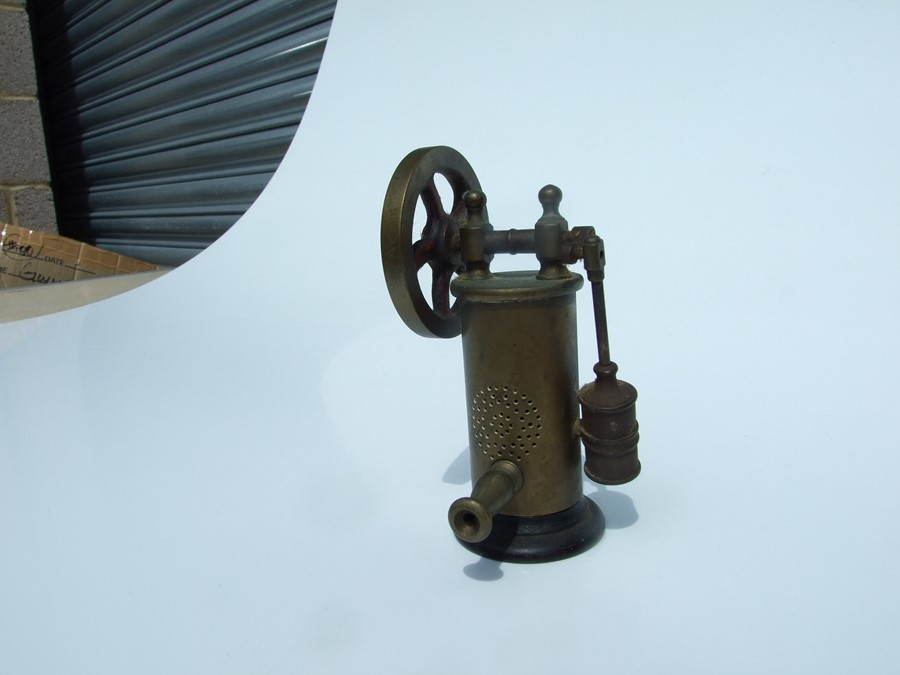 An Islamic hanging oil lamp; together with a Morse Code key; an Autolite lamp; a stationary engine - Image 3 of 6