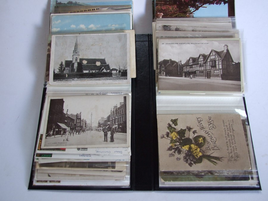 Approximately 200 early to mid 20th century Military postcards and photographs contained in a red - Image 4 of 19
