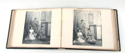 A Victorian photograph album showing scenes of a large house in Richmond Surrey and surrounding area