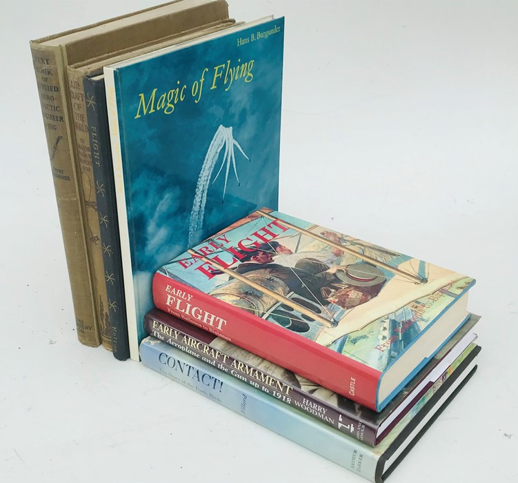 Aviation Interest: assorted volumes including Early Flight ? From Balloons to Biplanes; Taylor (John