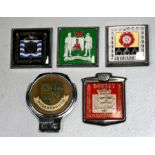 Five badge bar badges for British counties including Dorset, Cornwall, Lincolnshire, Derbyshire