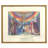 Frank O Salisbury (1874-1962) - The Shrine of Humanity - coloured print, signed in pencil to the