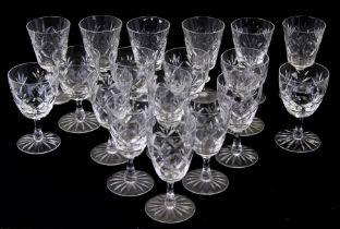 A quantity of cut glass