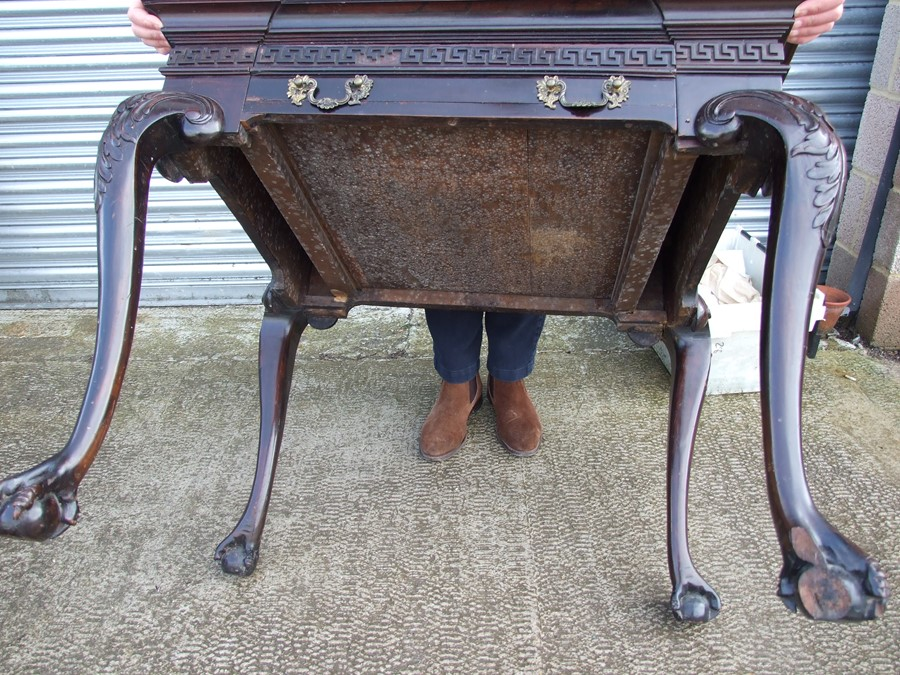 An 18th century (possibly Irish) mahogany writing table, the rectangular top inset with a later - Image 9 of 12