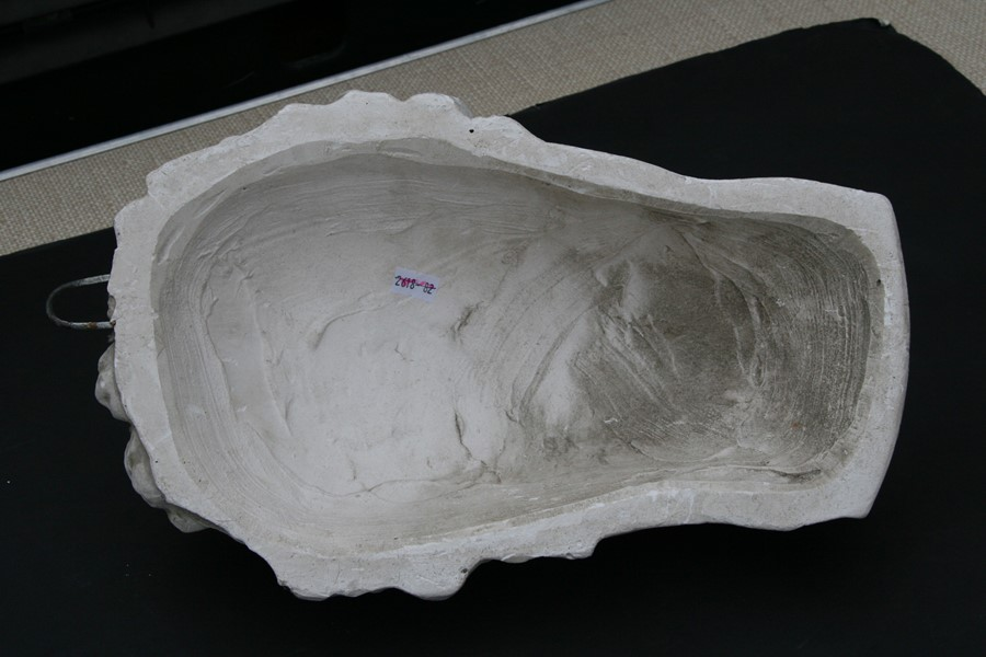 After the antique. A plaster cast mould of Michael Angelo's David, signed 'D Brucciani & Co. London' - Image 7 of 8